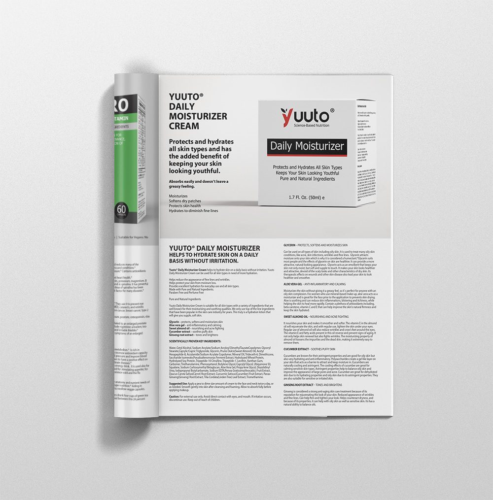 Yuuto™ Products Catalogue A4 Middle pages