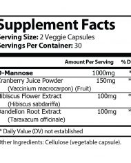 BLADDER PLUS – Urinary Tract Health Supplement Facts